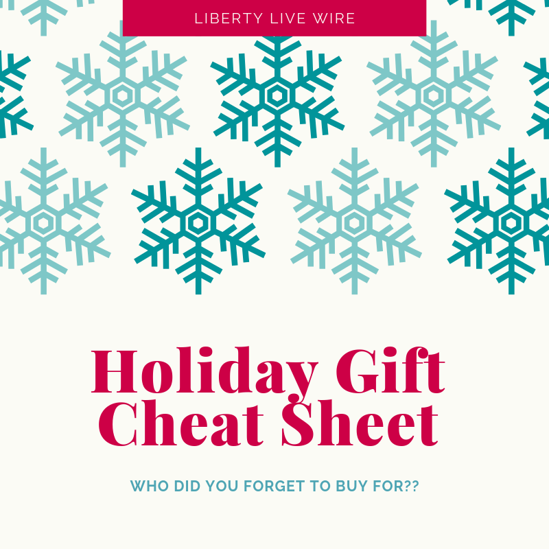 Holiday Gift Cheat Sheet