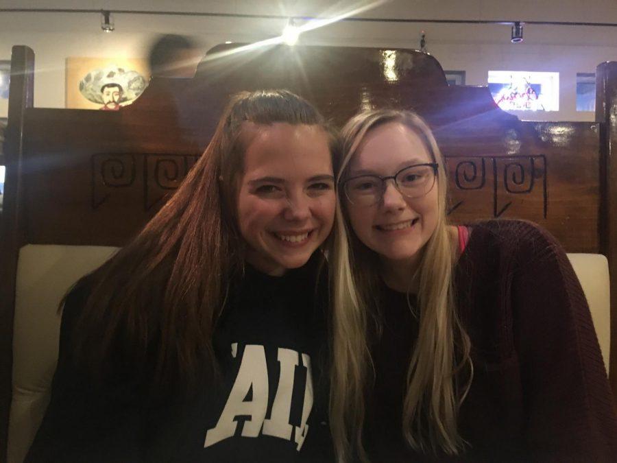 Tessa Miller and Kaylee Deisbeck at Fiesta Mexican Restaurant