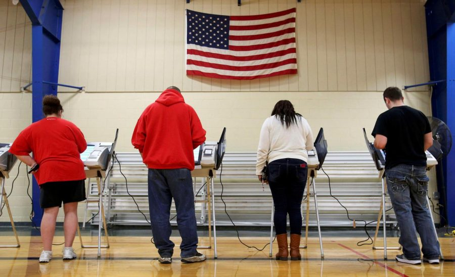 Ohio voters cast their ballots for the 2016 U.S. Presidential Elections.