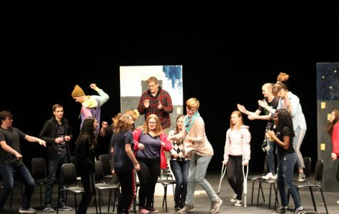 Cast members from The Rehearsal wreak havoc in-character during the show.