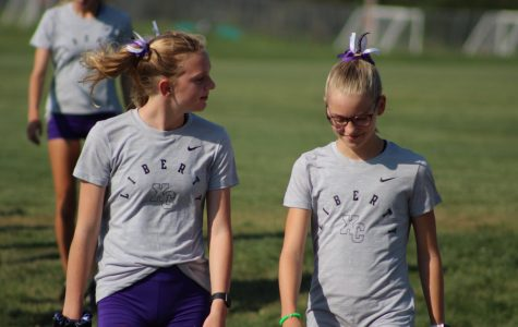 Ashlyn Keeney (Right) with teammate Beth Jaeger, 10. (Left)