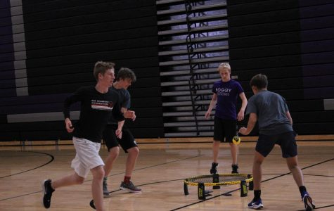 Christian Montover, 10, Henry Krain, 12, Garrett Roggy, 11, Jordan Robinson,10, competing during one of the club meetings.