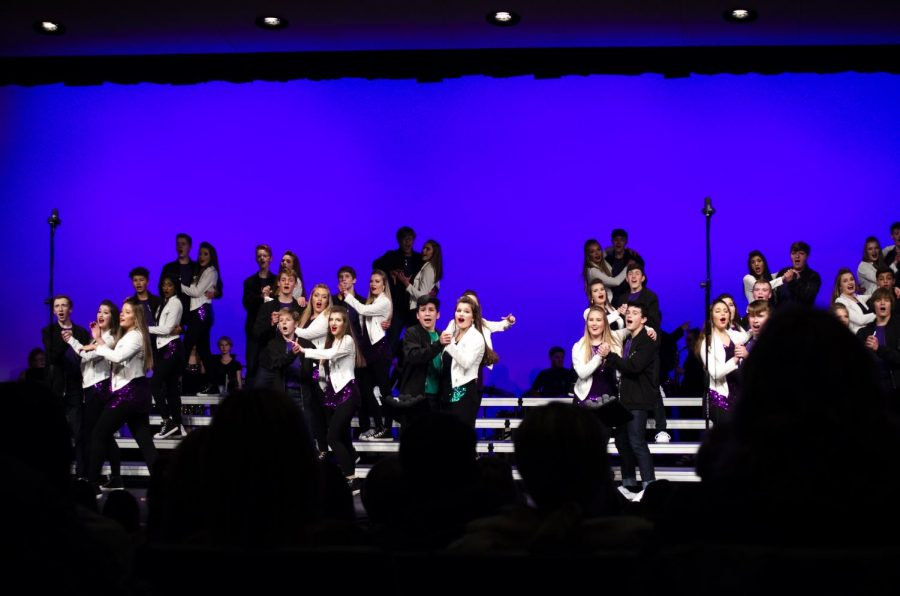 Liberty Storm performing their new production at the Winter Showcase.