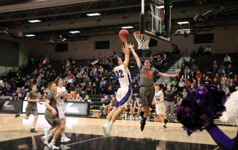 Junior Ethan O'Donnell takes a floater last year against Washington.
