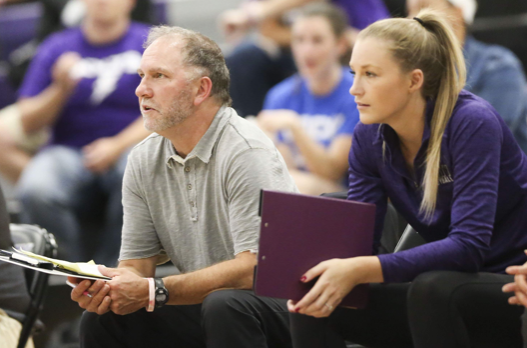 Allie Hutcheson (Left) coaching with Randy Dolson (Right).