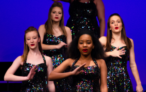 Impact, the new all girls show choir, performing at the Winter Showcase.