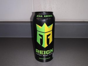 Max Tafolla's, junior, preferred energy drink is Reign. The boys on the newspaper staff collect the cans and display them in the journalism room.