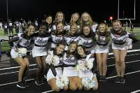 Varsity dance poses for a picture after cheering for the Bolts  vs. City football game on August 30th