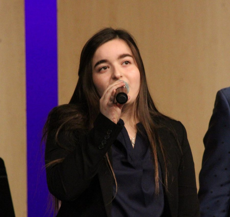 Sophia Cockerham, junior, performs at the 2018-2019 school years Liberty Jazz Fest.