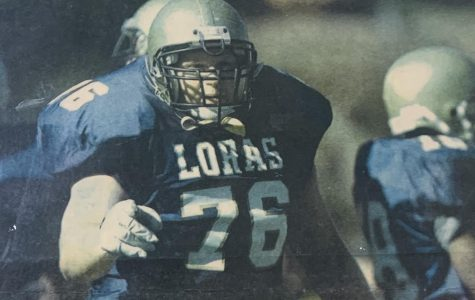 Liberty Teacher, Nate Oswald, played football while at Loras College.