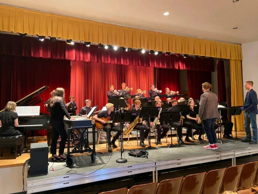 The Liberty Jazz Ensemble performs at the Coe College Jazz Summit on Feb. 27.