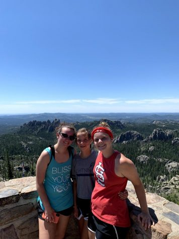 Madeline Marquardt, left, visited South Dakota with her family. She said that she spent the majority of the time outside due to covid.