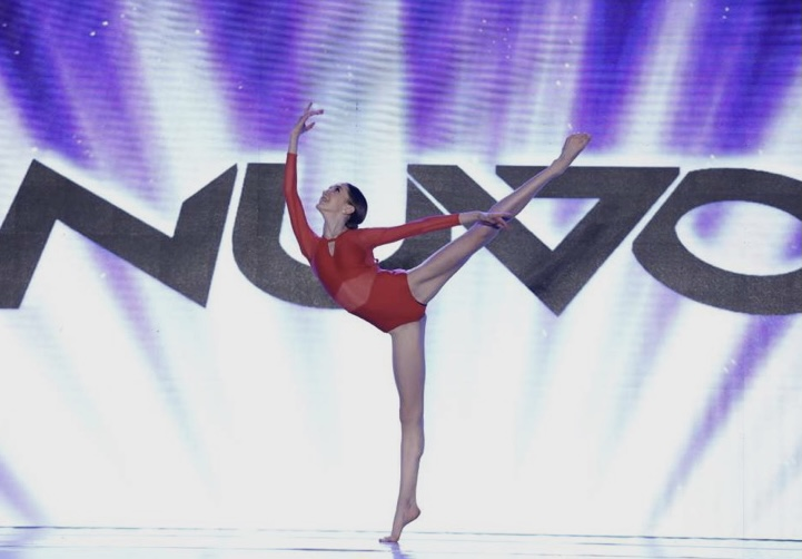 Delaine Tyler, freshman, competing her contemporary solo at Nuvo Dance Convention this year.