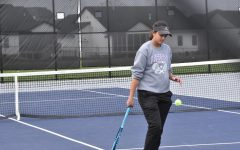 Leela Strand, freshman, became a State alternate for doubles with Lucy Lohman, freshman.
