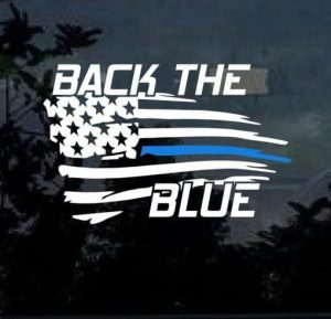 Back the blue symbol that's used by people to demonstrate their support for local law enforcement.