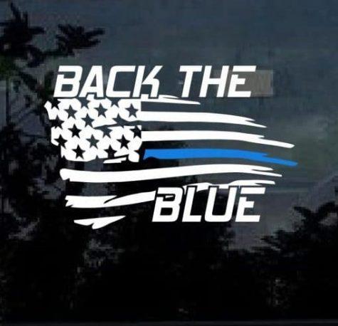Back the blue symbol that