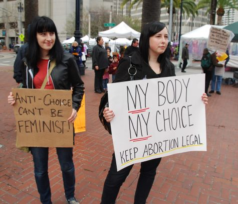 Photo taken at an abortion protest in San Francisco, California, in 2013