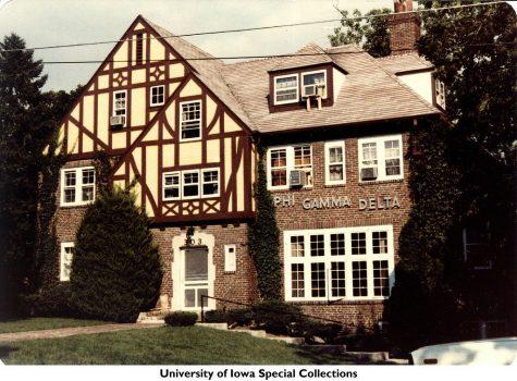 Phi Gamma Delta fraternity house, Iowa City, Iowa, ca. 1981 by The University of Iowa Libraries