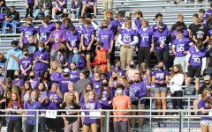 The Junior student section during the HoCo pep assembly.